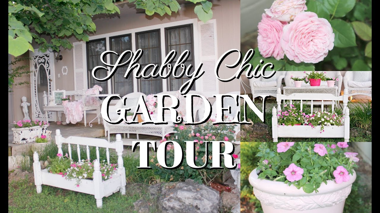 My Shabby Chic Front Porch Garden Tour