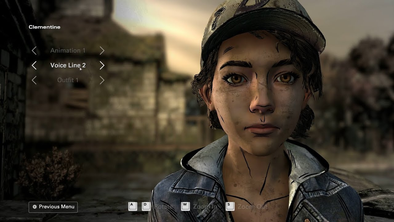 The Walking Dead The Telltale Definitive Series All Clementine Animations Voice Lines And Outfits