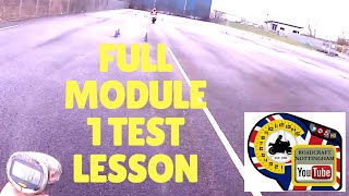 LIVE LESSON - Full Module 1 test lesson. (Motorcycle riding tips)