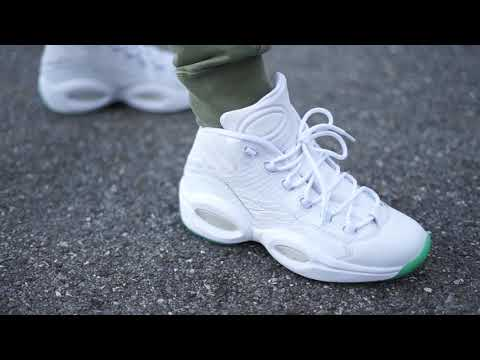 Reebok Question Mid White/Mint (Dope or Nope) + On Foot
