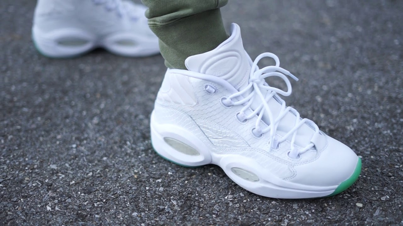 Reebok Question Mid White Mint (Dope or Nope) + On Foot - YouTube 32084e350