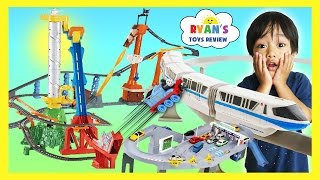 BIGGEST TOY TRAINS TRACK FOR KIDS Thomas & Friends Trackmaster Accidents will Happen Disney Cars