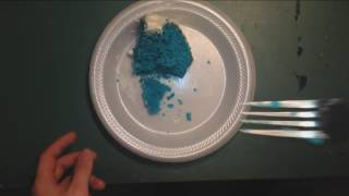 ASMR : Calvert eating Blue Velvet Cake (Sky's B-day)