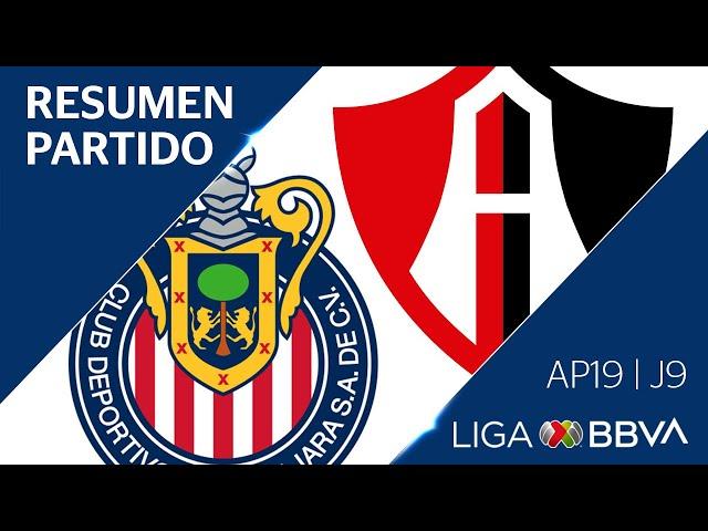 Resumen y Gol   Guadalajara vs Atlas   Jornada 9 - Apertura 2019   Liga BBVA MX