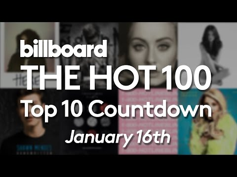 Official Billboard Hot 100 Top 10 January 16 2016 Countdown
