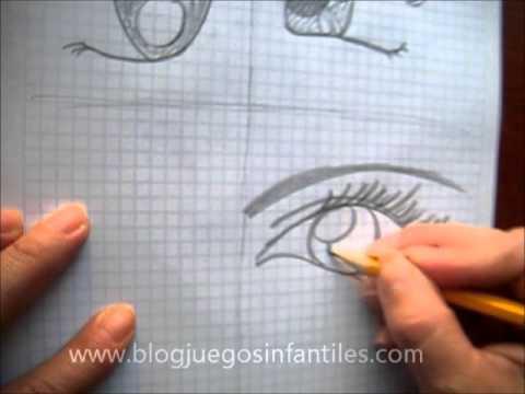 Como dibujar 4 tipos diferentes de ojos anime - YouTube