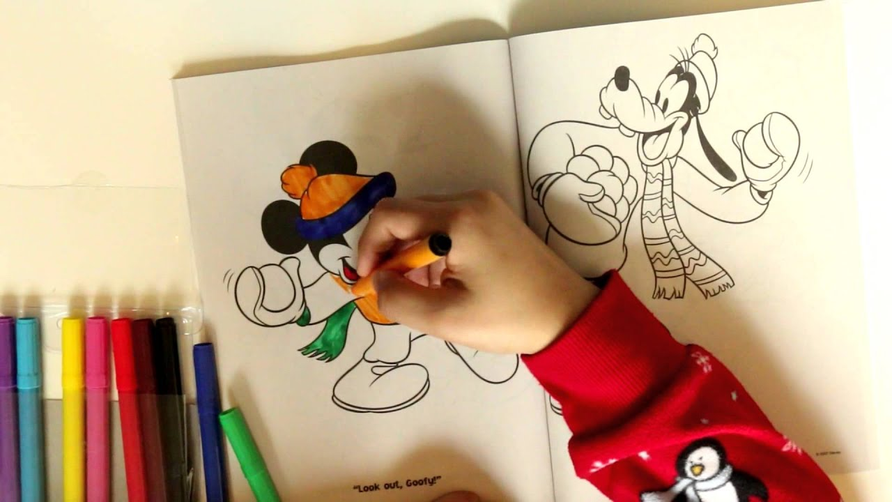 Mickey Mouse Color Book Kids Fun Kinder Eggs Drawing Pictures For Coloring Pages