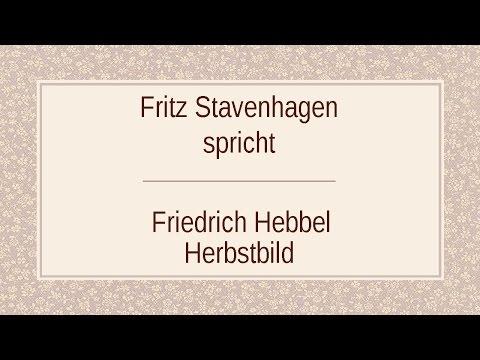 """Friedrich Hebbel """"Herbstbild"""""""
