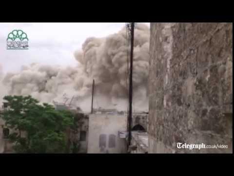 Syria: footage emerges of Aleppo Carlton Hotel bomb blast