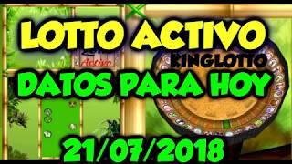 DATOS LOTTO ACTIVO  21/07/2018   KINGLOTTO