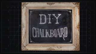Make your Own DIY Chalkboard From an Old Frame