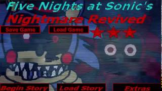 Five Nights At Sonic's Nightmare Revived:RUN sonic RUN!!!