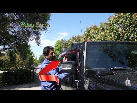 How to Install Window Visor | Rain Guard on HUMMER | In Channel Window Visor Deflector Rain Guard
