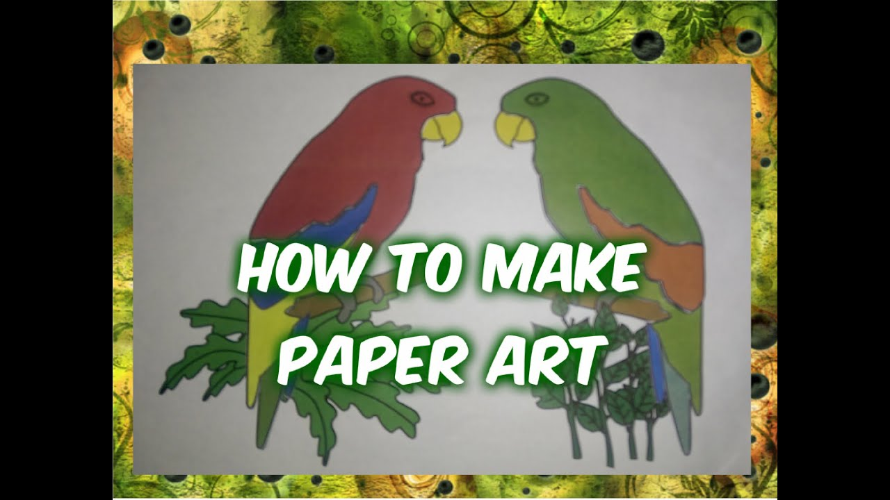 How To Make Paper Art Cut And Paste Diy Craft Ideas Youtube