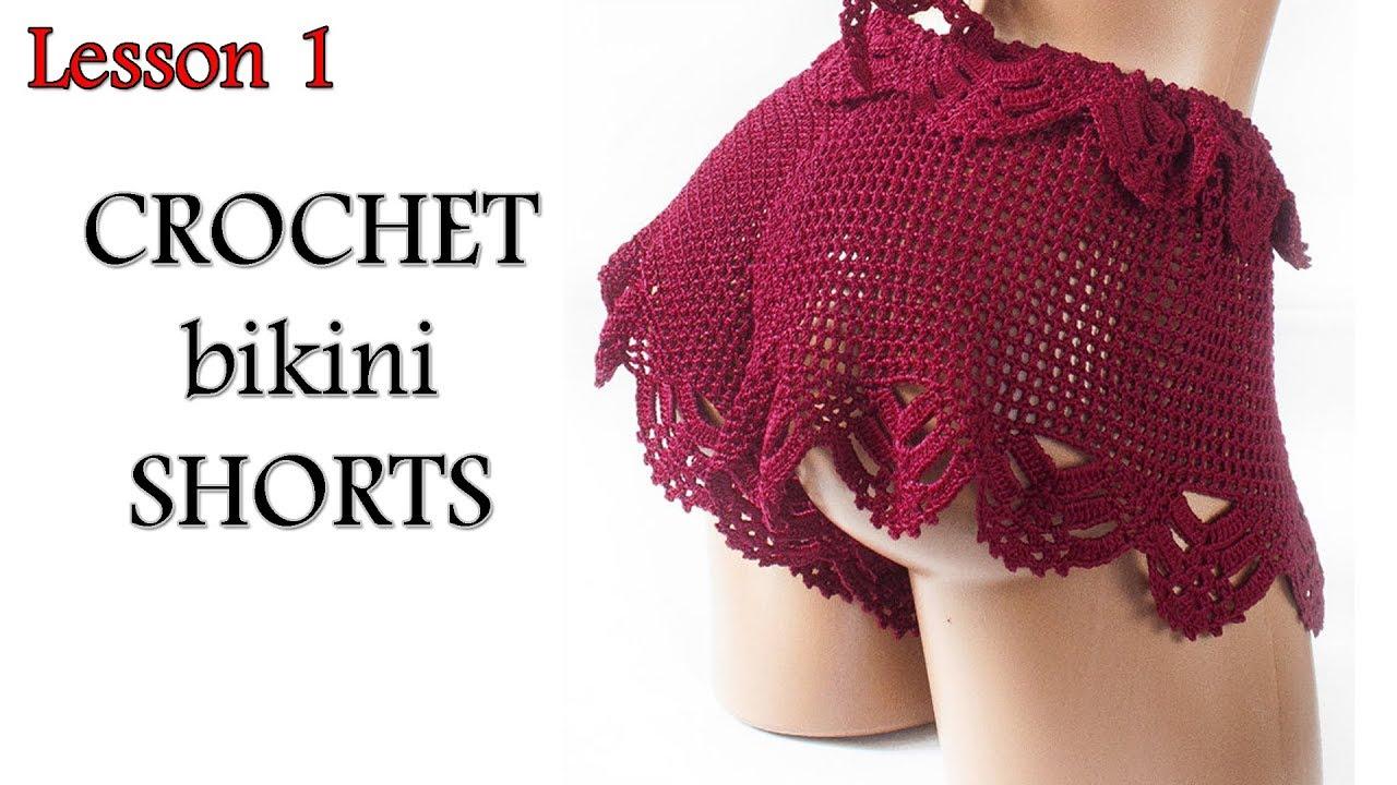 Как вязать шорты - Шортики крючком МК1 - Shorts Crochet Lesson 1
