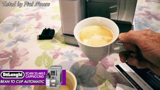 Кавоварка Delonghi ECAM23 капучіно.460S зерна до чашки огляду кофемашина (знято в 4K)