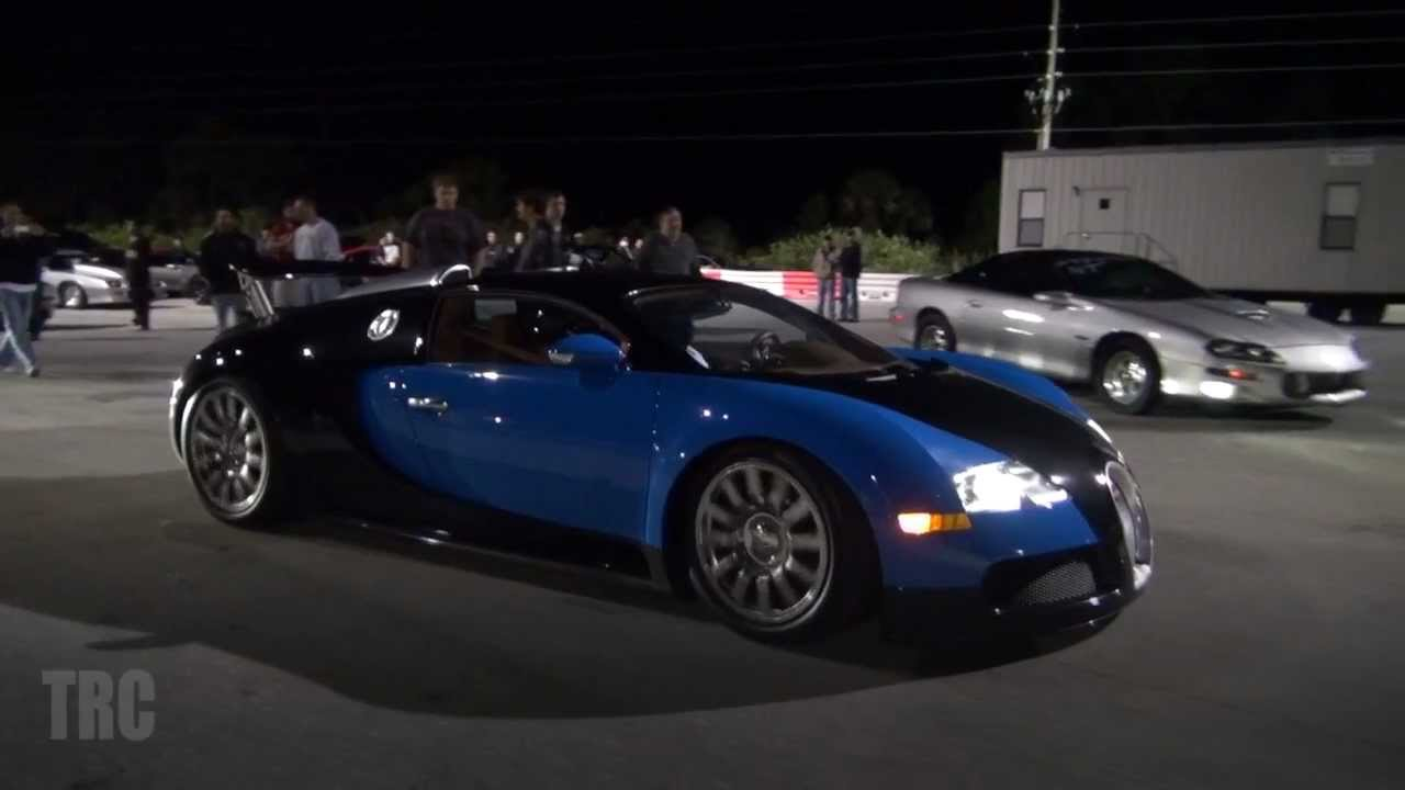 bugatti veyron **rare** 1/4 mile drag race vs nissan r35 gtr - youtube
