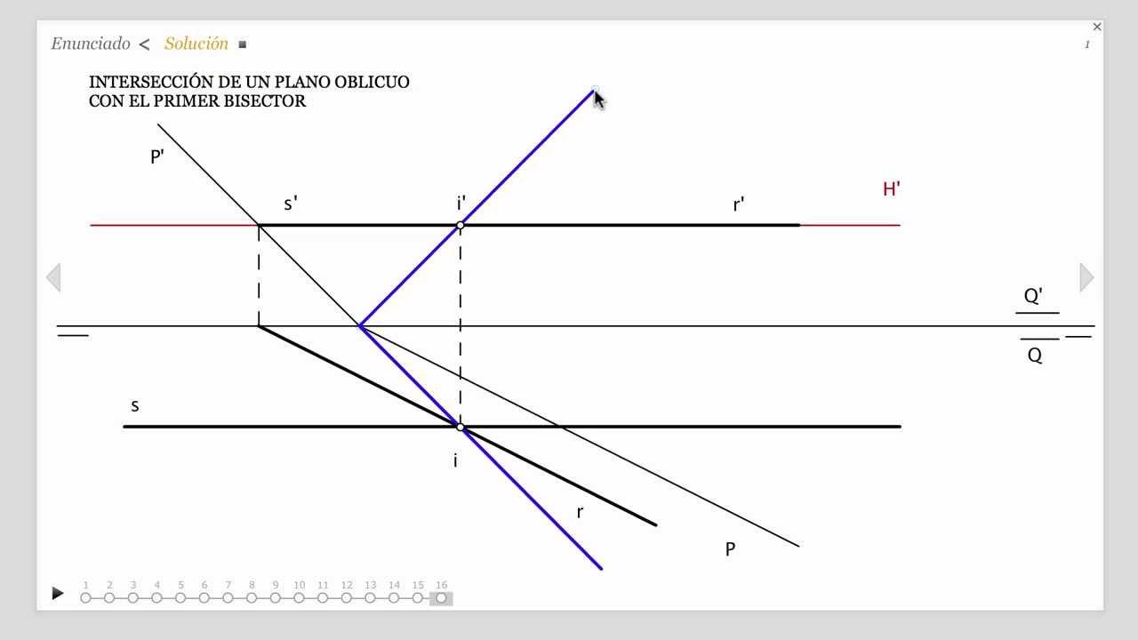 23 intersecci n de un plano oblicuo con el primer for Plano de un vivero forestal