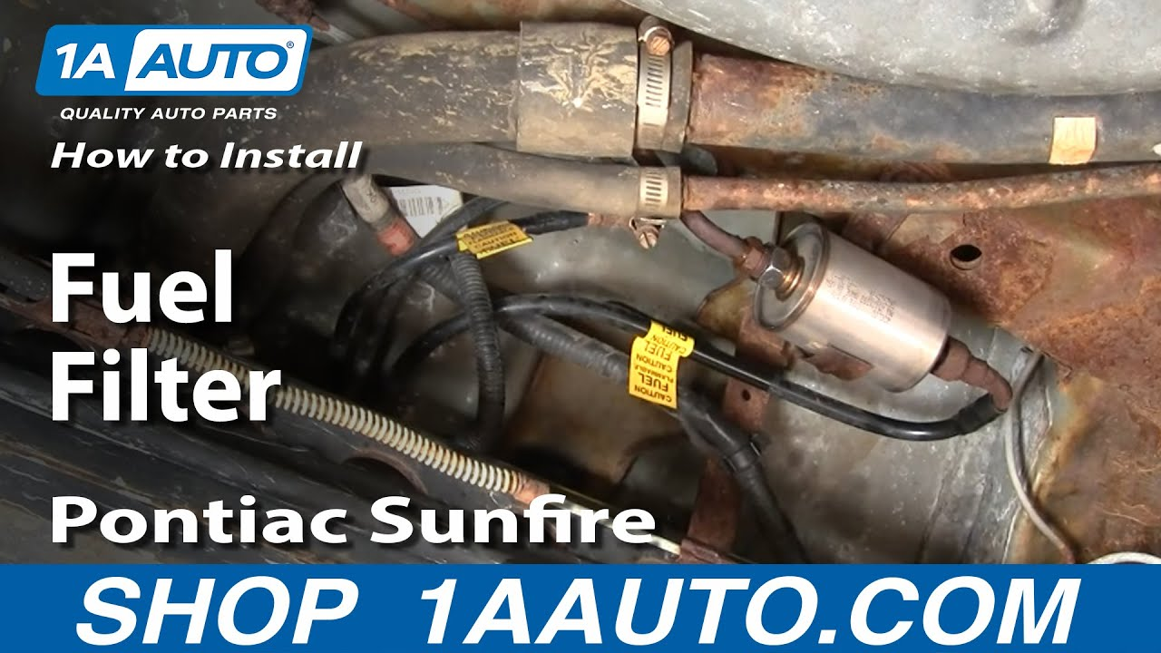 how to install replace fuel filter cavalier sunfire 95 05 1aauto com rh youtube com
