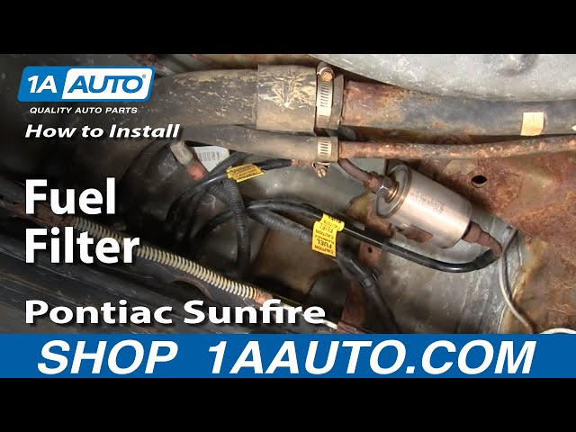 How To Replace Fuel Filter 9505 Pontiac Sunfire 1a Autorh1aauto: 1992 Chevy Lumina 3 1 Fuel Filter Location At Gmaili.net