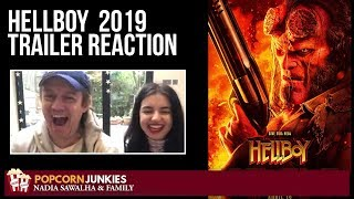 Hellboy 2019 Movie Red Band New Trailer - Nadia Sawalha & family Reaction