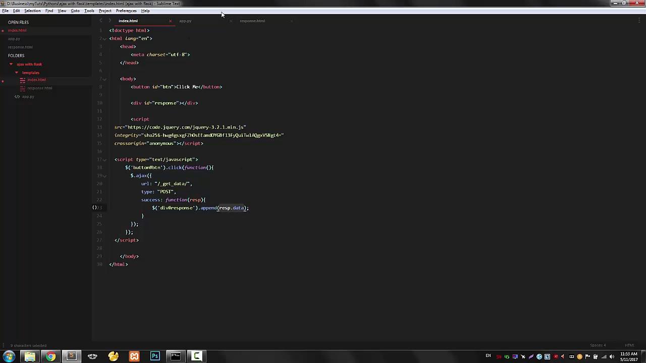 jQuery Ajax with Python/Flask