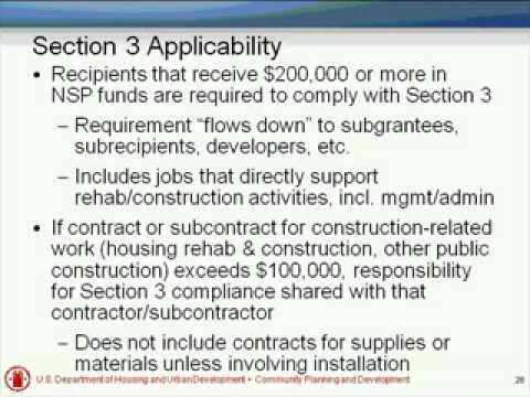 Fair Housing Act, Section 3, and Section 504 Requirements Webinar - 7/13/10