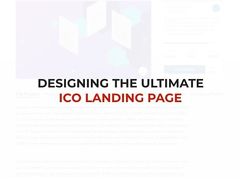 ICO Landing Page Design: What To Include (2018)