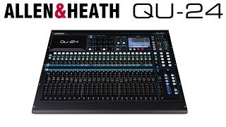 allen and heath qu 24 30 in 24 out digital stage and studio mixer