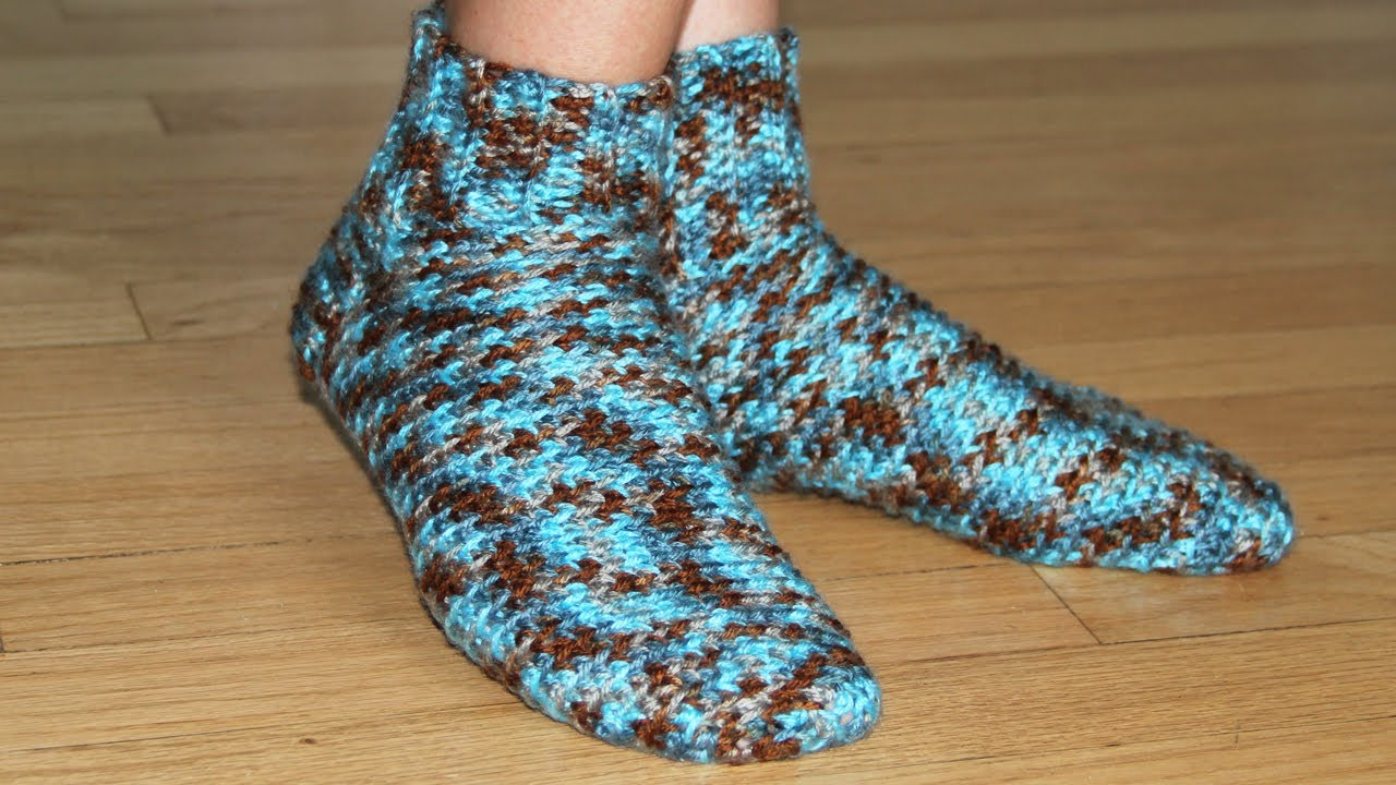 How to crochet socks video tutorial for beginners youtube bankloansurffo Image collections