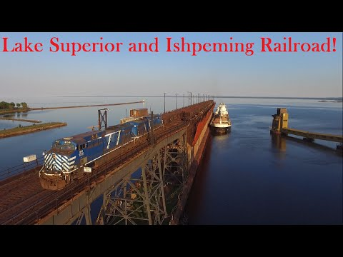The Lake Superior And Ishpeming Railroad At Marquette! (Drone Video)
