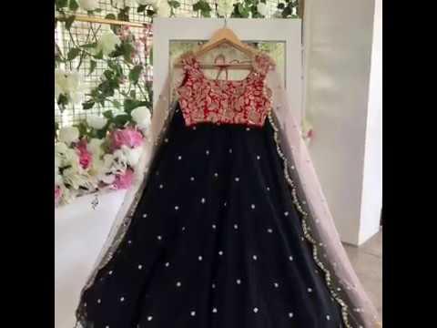 Designer bridal lehengas/croptopskirts