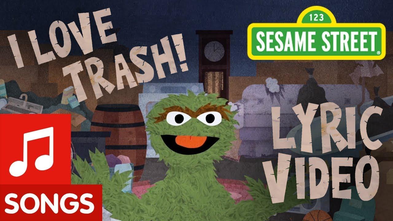 Sesame Street I Love Trash Animated Lyric Video