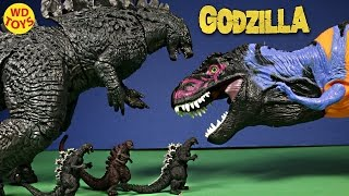New 3 Shin Godzilla from 1954,1989,2016 Vs Bull T-Rex Jurassic Park Gashapon  Sega Unboxing Review