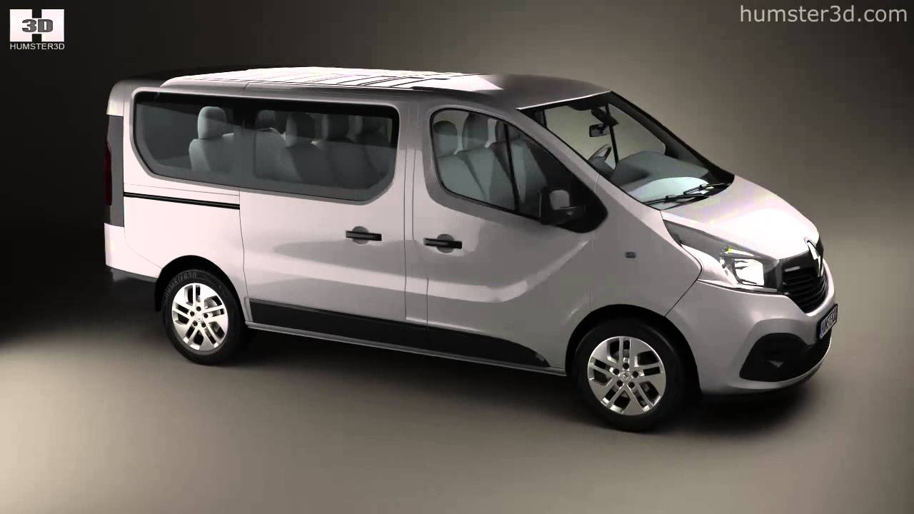 7 Passenger Vehicles >> Renault Trafic Passenger Van 2014 by 3D model store ...