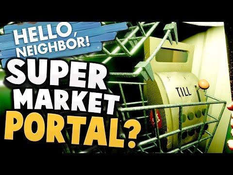 GOLDEN APPLE MARKET PORTAL?! Secret Portal to Supermarket? - Hello Neighbor Alpha 4 Gameplay