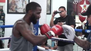 Terrell Gausha SPEED & POWER MITT WORKOUT! vs Steve Martinez