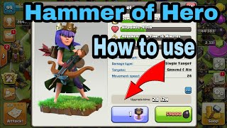 Clash of clan|| How To Use Hammer Of Hero|| by__coc Best Ani😍