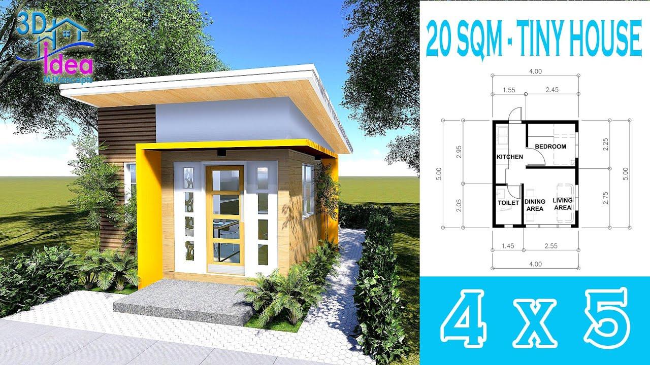 13 Small House Design Idea 4 X 5 Bungalow Tiny House Youtube
