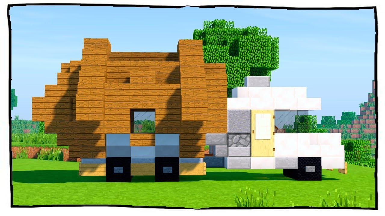 Как построить болшой дом в майнкрафт дом на колесах