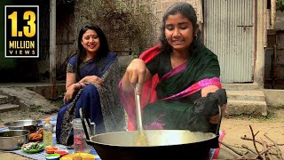 TRADITIONAL FOOD OF LALMONIRHAT   লাউশাক, গোলআলু ও সিদল দিয়ে মাছের তরকারি রান্না