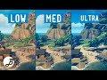 Sea Of Thieves   Graphics comparison   PC Low VS Mid VS Ultra