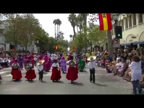 Ballet Folklorico Mexico Azteca - Santa Barbara Parade 2014