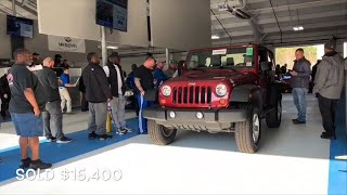 This Is How Much All Used JEEP Models Sell For At Auction! Cheap Deals On Jeep Wranglers!