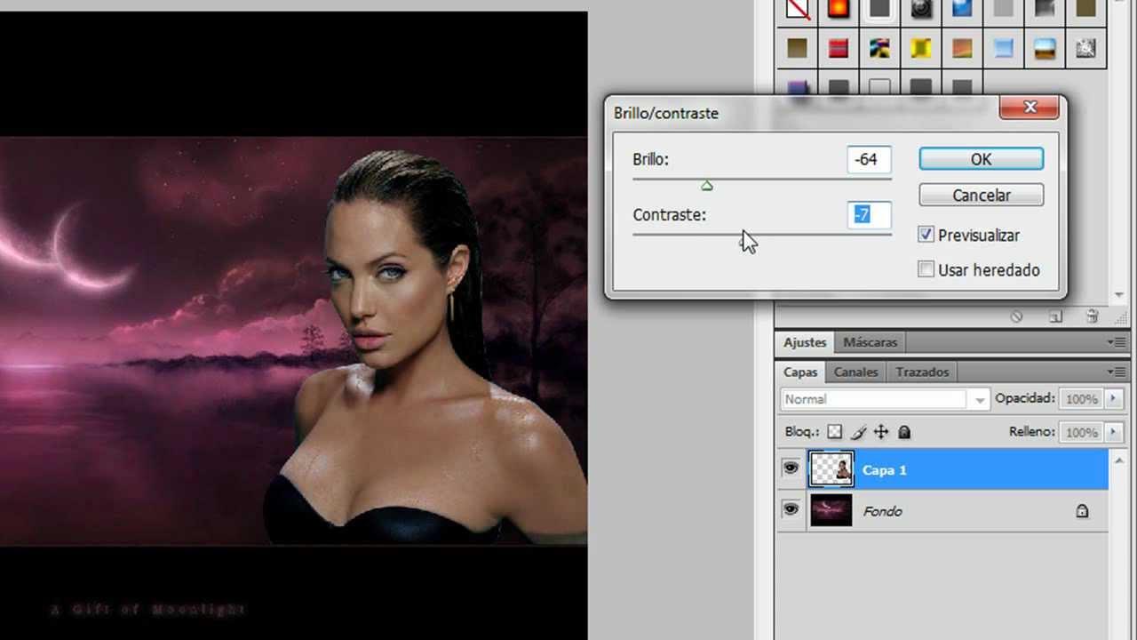 Como poner una imagen encima de otra photoshop tutolandia 3 youtube - Como poner muchas fotos en una pared ...