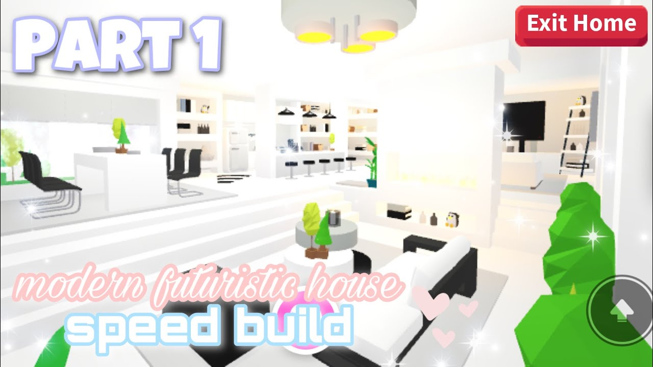 Modern Futuristic House Part 1 Roblox Adopt Me Youtube