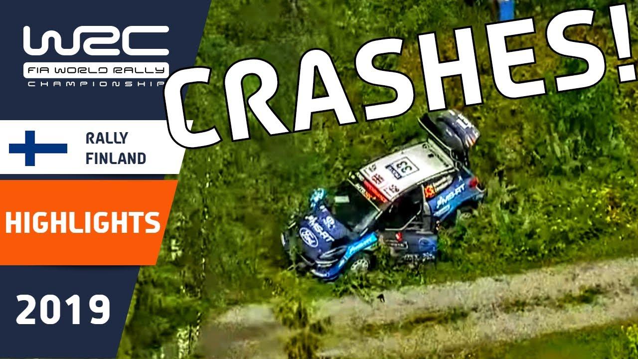 WRC - Rally Finland 2019: WRC Rally CRASH Highlights : Rally Crashes, Fails and Mistakes.