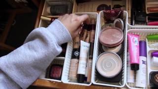 College Desk & Makeup Storage Tour || 2015