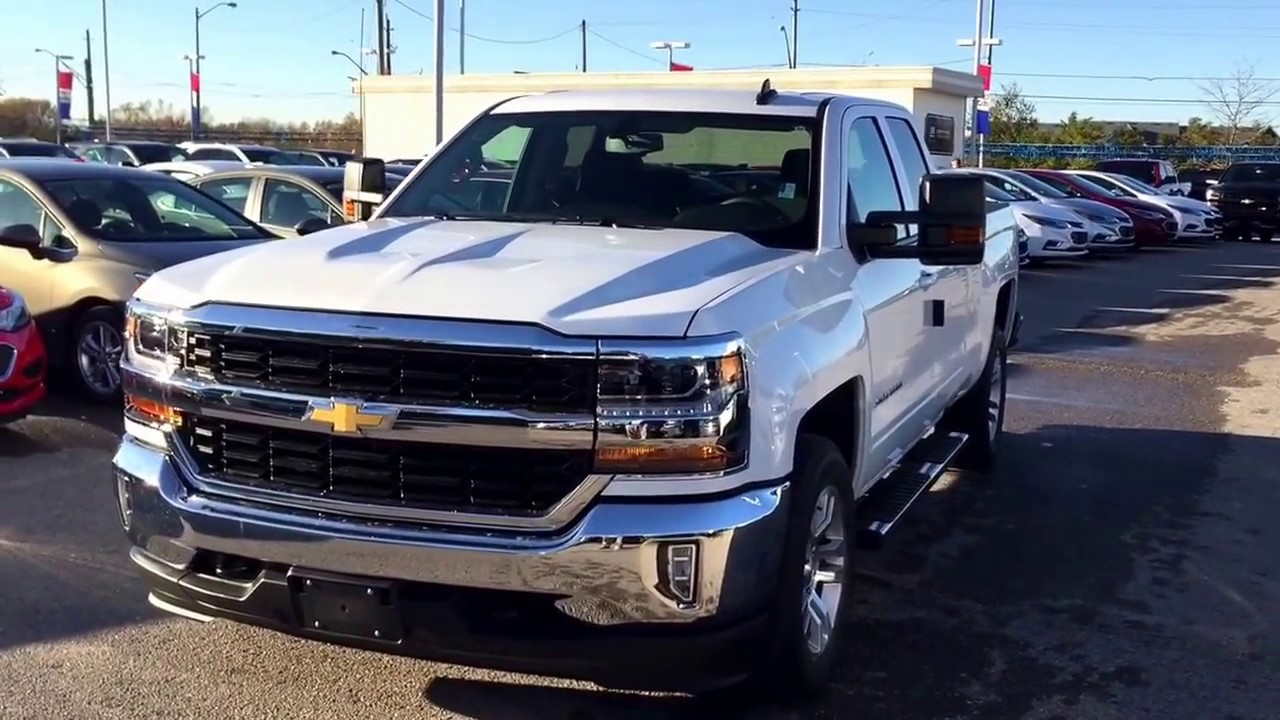 2016 Chevrolet Silverado 1500 Double Cab >> 2017 Chevy Silverado LT 4WD Double Cab Camper Mirrors Summit White Roy Nichols Courtice ON - YouTube