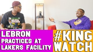 LEBRON PRACTICES AT LAKERS FACILITY REACTION | Hoops N Brews